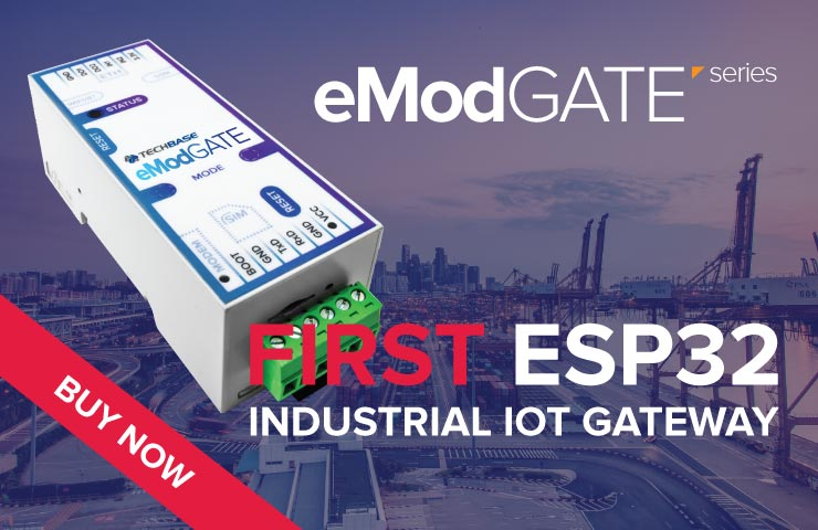 eModGATE ESP32 First Industrial IoT Gateway